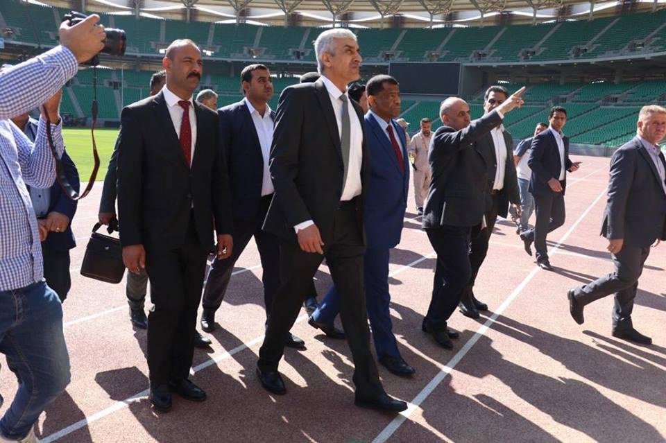 وزير الشباب والرياضة يصل البصرة