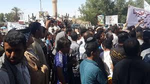 أهالي ذي قار يتظاهرون ضد مشروع خصخصة الكهرباء في المحافظة