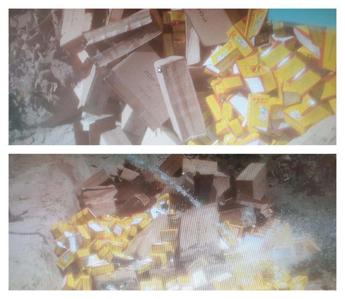 اتلاف شحنة العاب نارية ممنوعة الأستيراد في جمرك المنطقة الوسطى