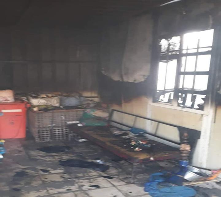 إخماد حريق اندلع داخل دار مواطن في واسط