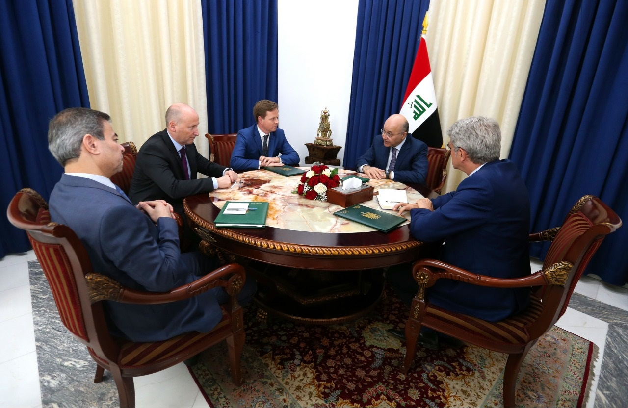 Saleh meets with ambassadors of three countries and discuss with them the strengthening of security and reforms in Iraq Image
