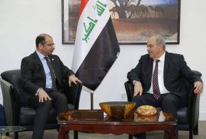 الجبوري وعلاوي يستعرضان دور مجلس النواب في بلورة واقرار قانون الانتخابات