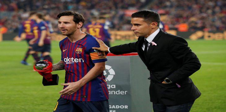 """رئيس رابطة """"الليغا"""" يقترح إطلاق اسم ميسي على جائزة أفضل لاعب بالدوري الإسباني"""
