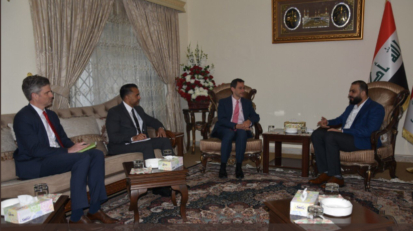 Karbouli discusses with US Charge d'Affaires the promotion of security and political stability in Iraq Image