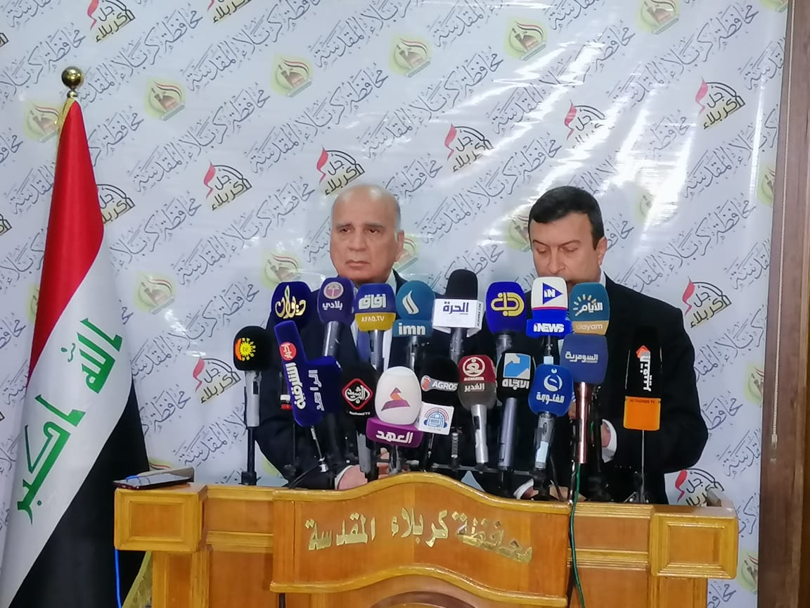 وزير المالية من كربلاء: نشجع عمل القطاع الخاص ولدينا ثورة إصلاح بكافة فروع الوزارة