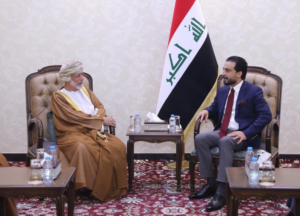 الحلبوسي يستقبل وزير الشؤون الخارجية لسلطنة عمان