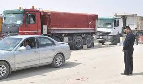 ديالى: ضبط 9 شاحنات محملة ببضائع غذائية مهربة وغير مرسمة جمركياً