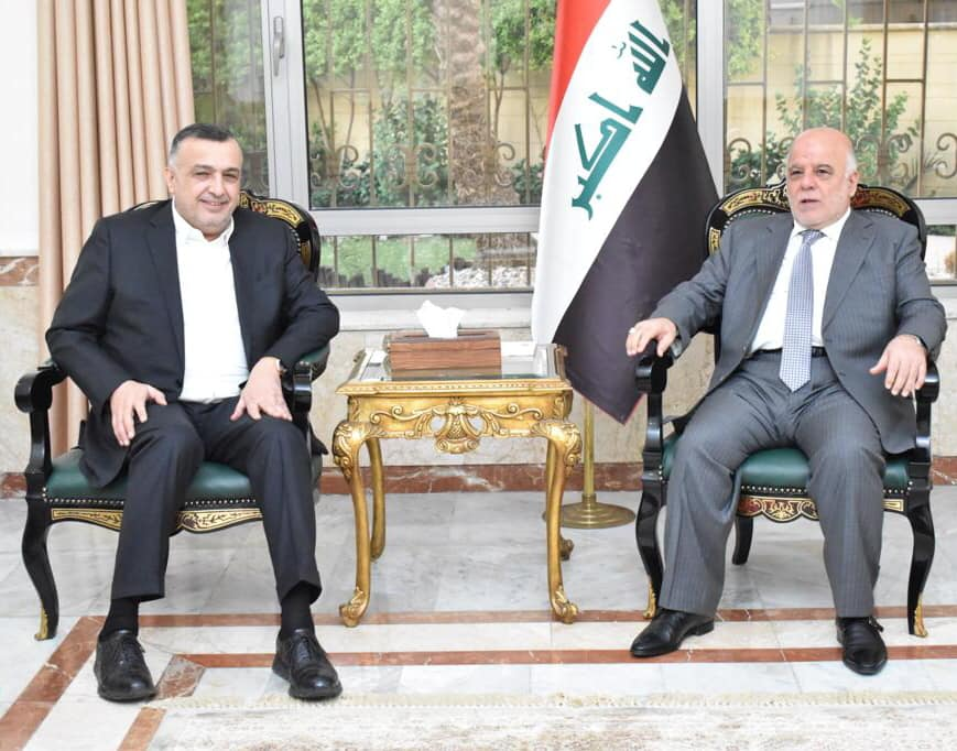 Karbouli discusses with Abadi the situation in the region and its repercussions on Iraq and its people Image