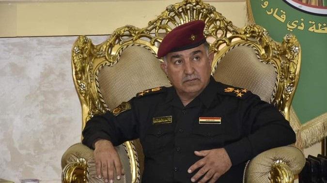 بالفيديو ..  قائد شرطة ذي قار يوجه رسالة إلى الضباط بشأن متظاهري الناصرية
