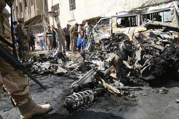 36 dead and wounded toll 4 separate bombings struck Baghdad today