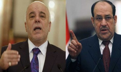 Hawks are pressing state law to thwart the Iraqi government and al-Maliki .. refuses to meet with al-Abadi