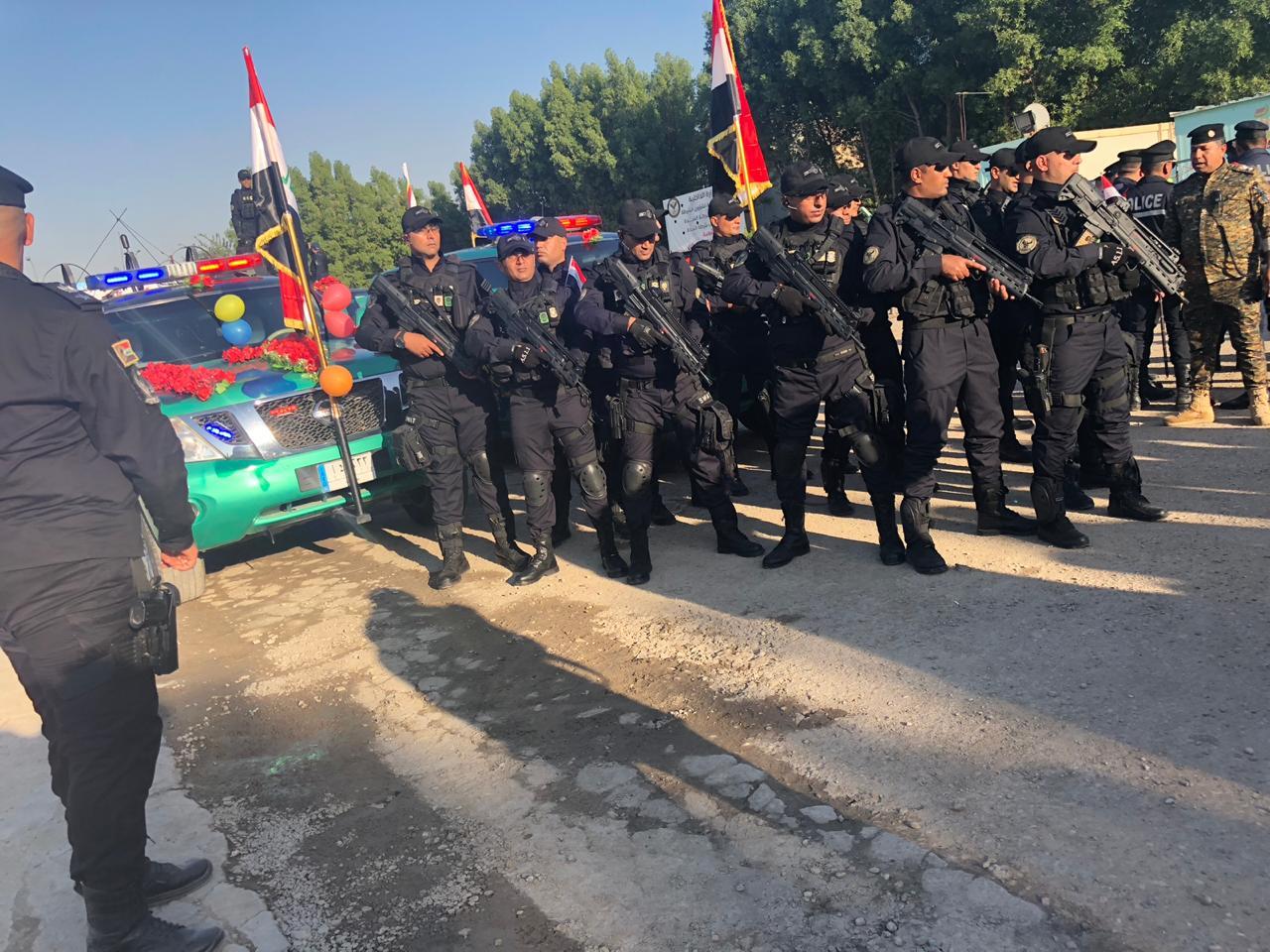 بالصور.. استعدادت نجدة بغداد للاحتفال بيوم النصر