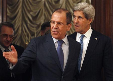 لافروف وكيري يتفقان على عقد مؤتمر دولي بشأن سوريا