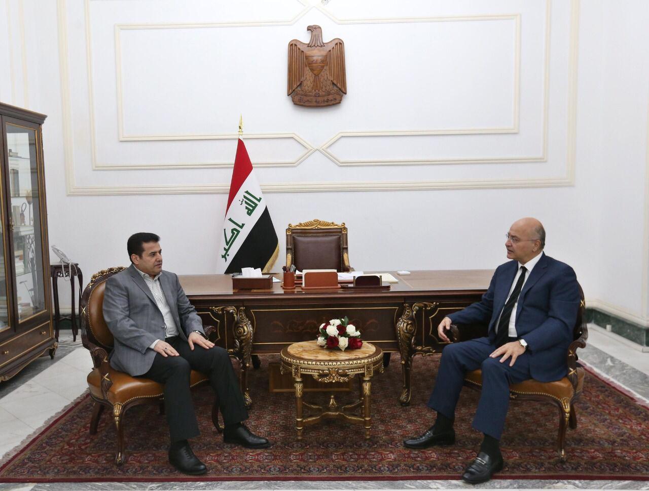 صالح يشدد مرة اخرى على ضرورة حماية البعثات الدبلوماسية خلال لقائه الاعرجي