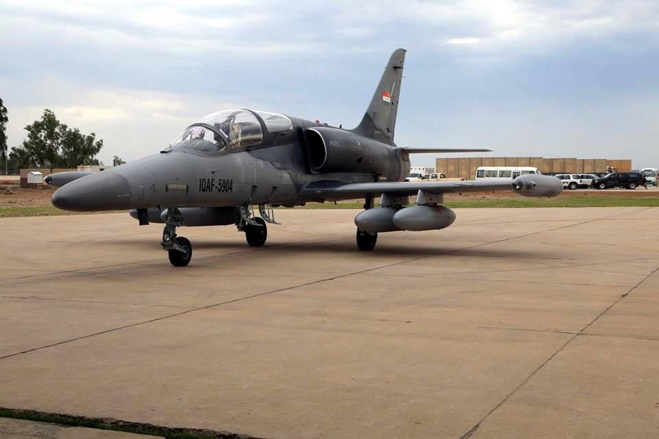 طائرات L-159  الجديدة توجه ضربات لداعش غرب الموصل