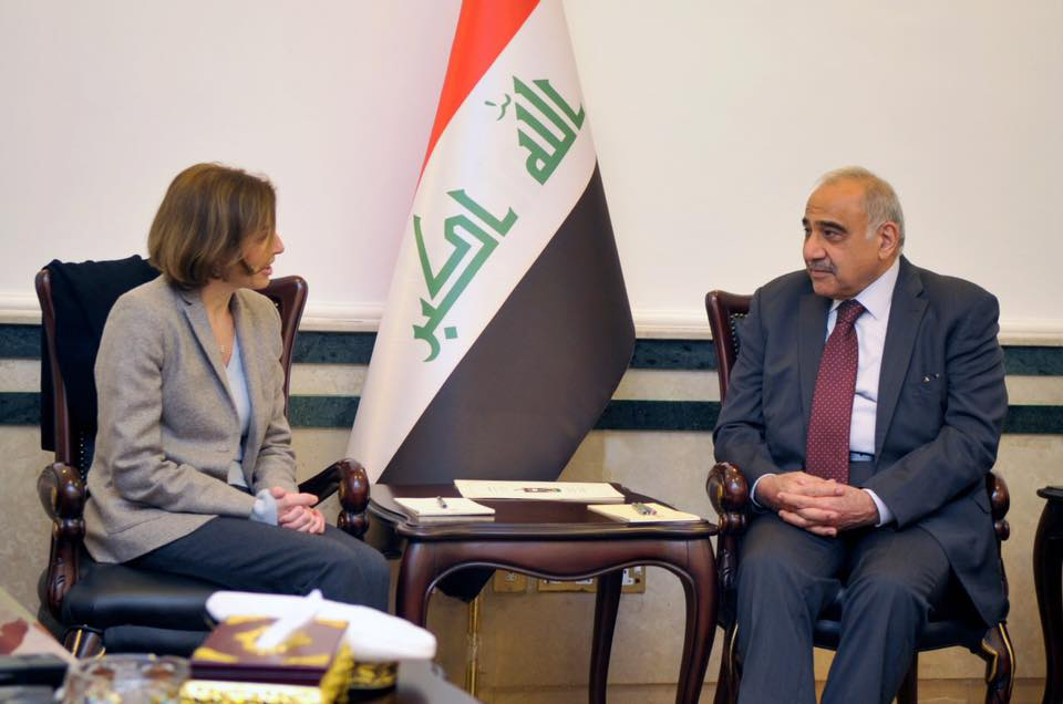 Abdel Mehdi calls on France to focus on building and returning displaced people in Iraq Image