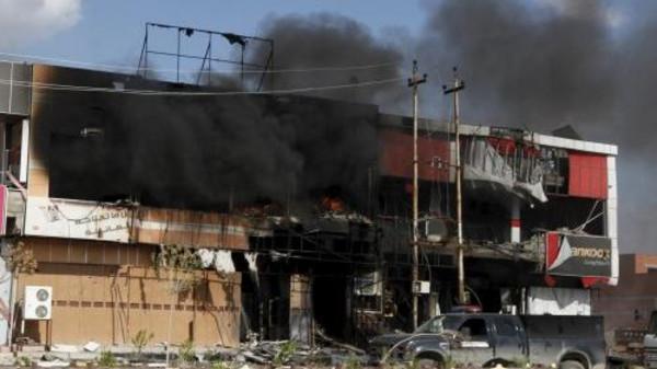 داعش تحرق المنازل قبل هروبها مع تقدم القوات الامنية المحررة