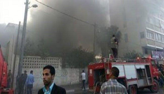 القوات الامنية تعتقل العصابة التى تسببت بحرق مستشفى اليرموك