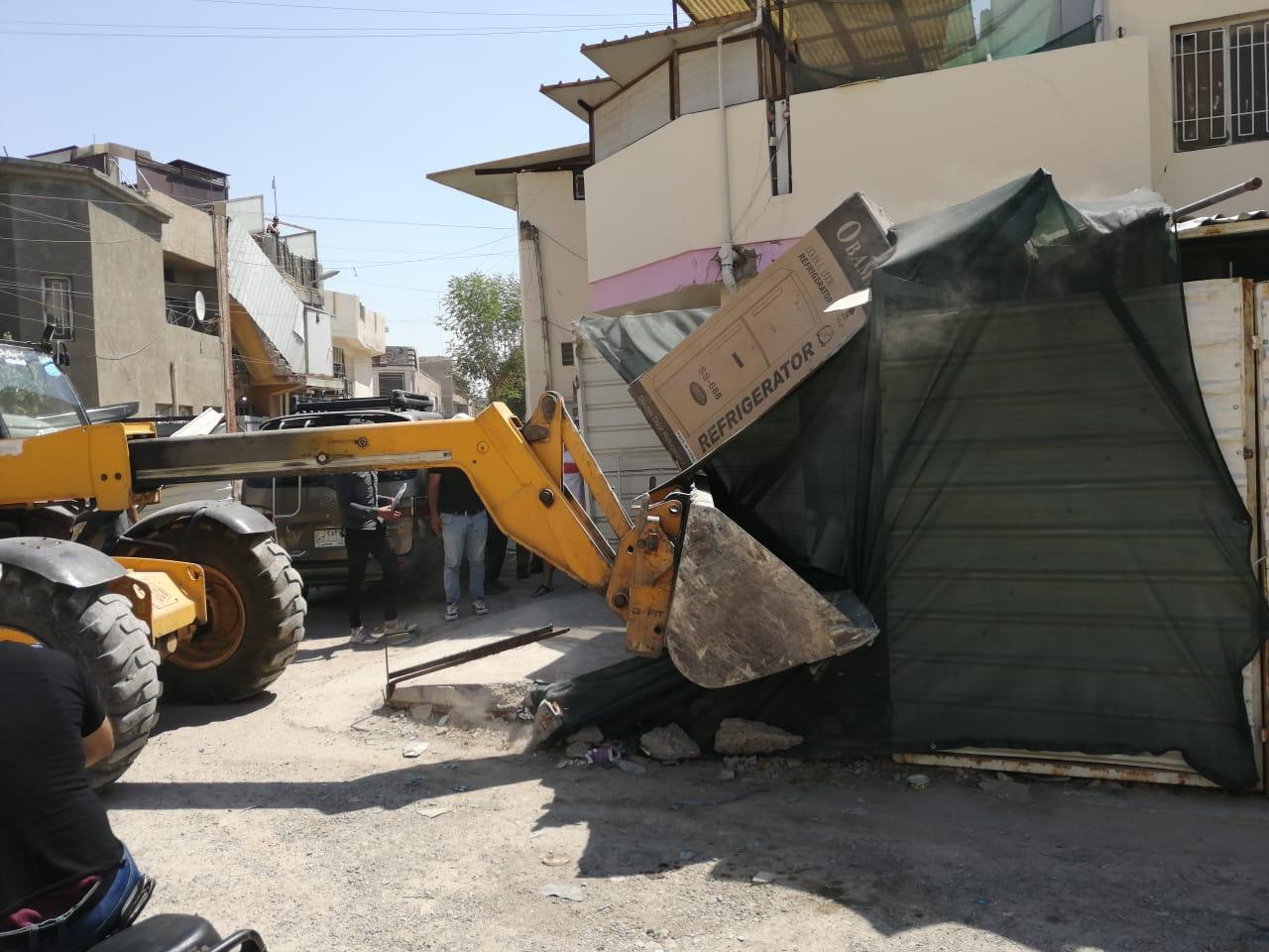 حملة لازالة التجاوزات شمال بغداد