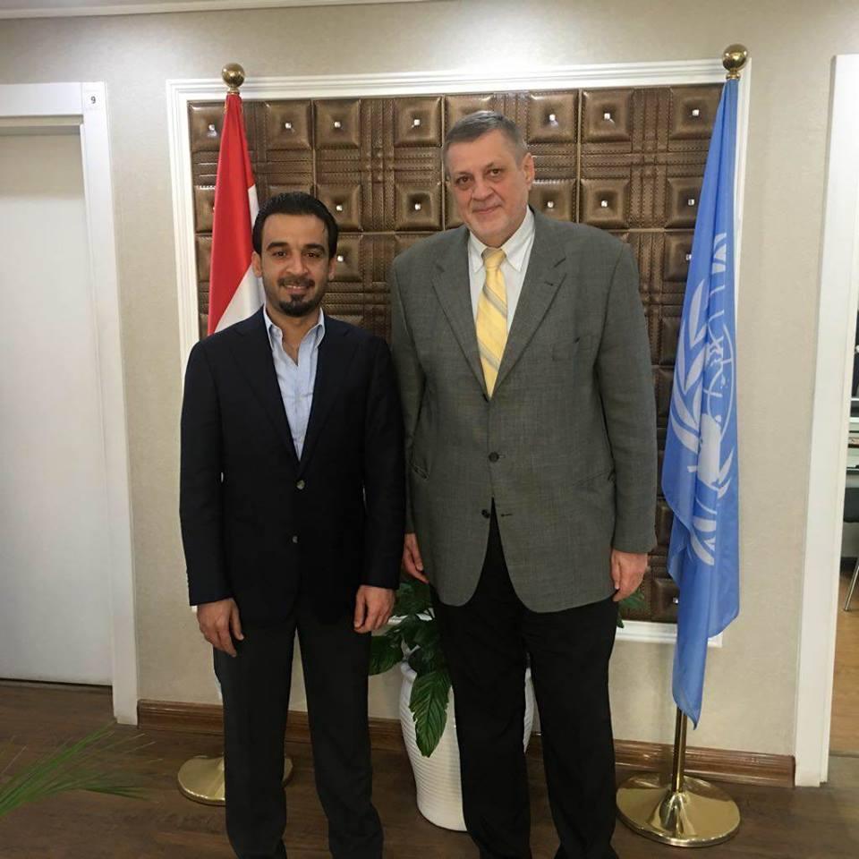 محافظ الانبار يلتقي ممثل الامين العام للامم المتحدة