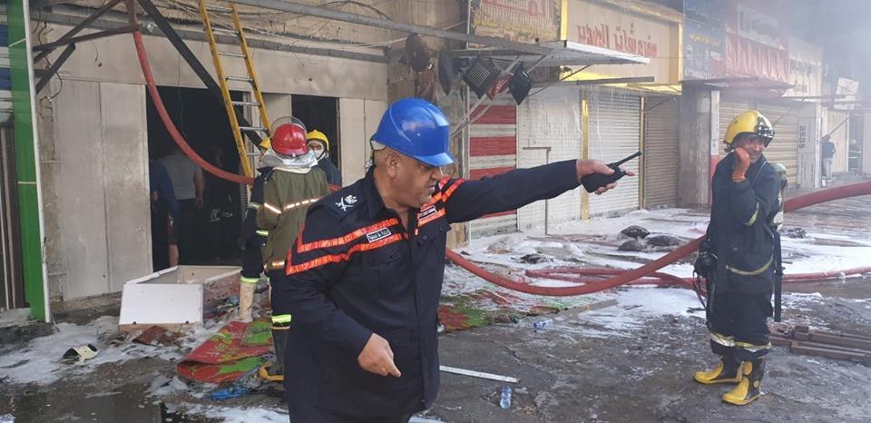 اندلاع حريق داخل محل بالشورجة في ثاني حادث تشهده المنطقة اليوم