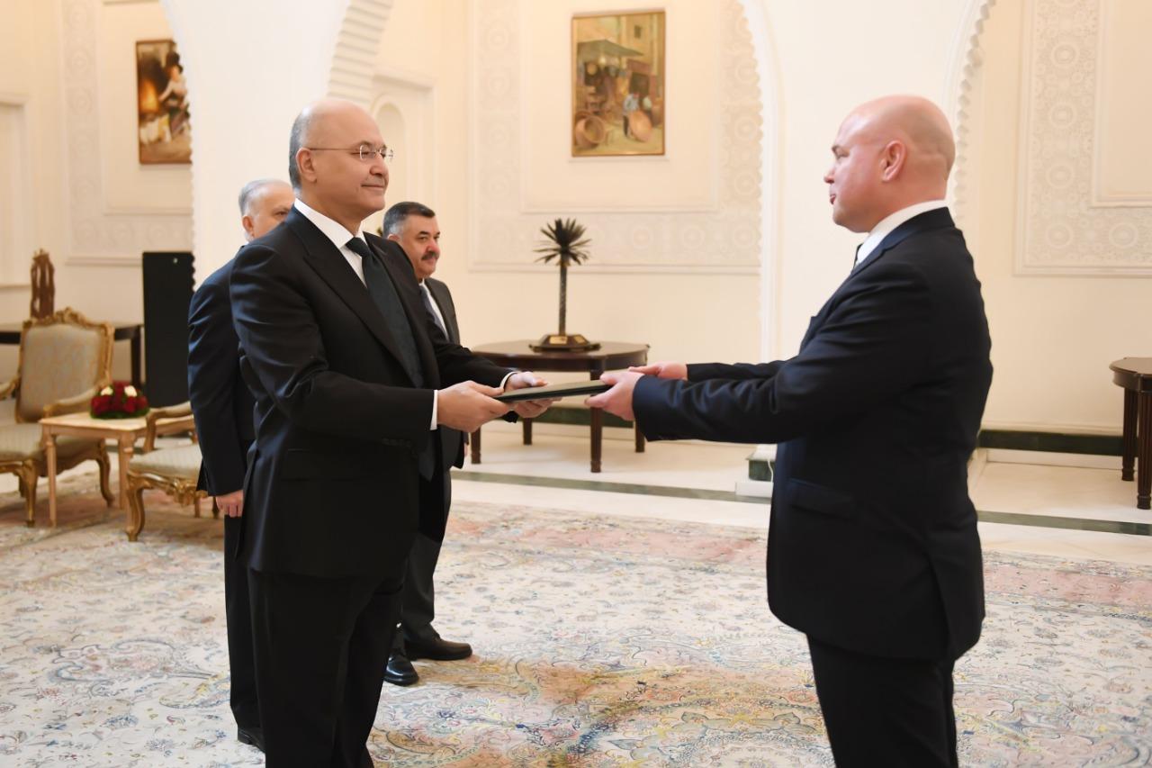 Barham Saleh receives the credentials of 4 new ambassadors to Iraq Image