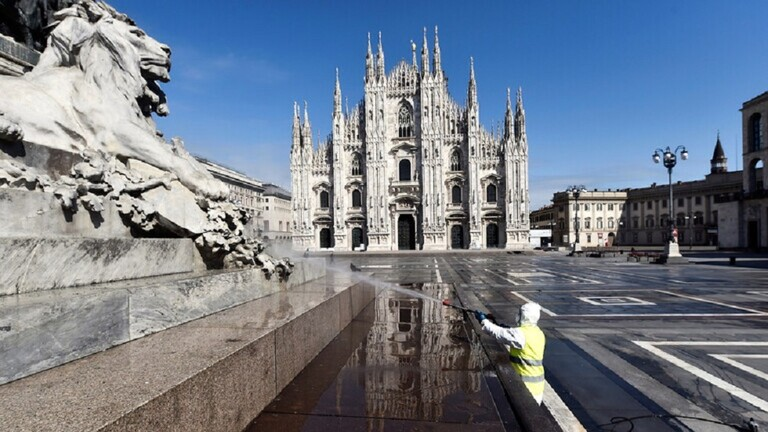 تسجيل 727 وفاة جديدة بكورونا وارتفاع عدد المصابين إلى 110574 في ايطاليا