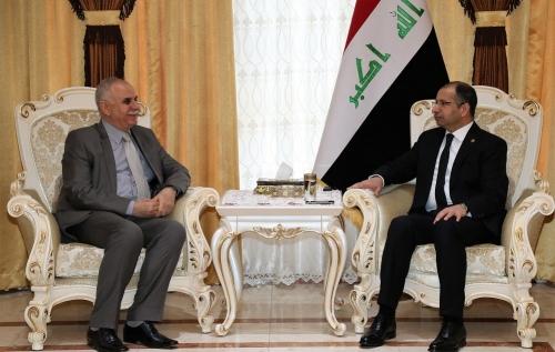الجبوري للسفير الفسطيني: العراق لن ينسى القضية الفلسطينية وحقوق الفلسطينيين