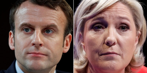 بدء الجولة الثانية في الانتخابات الرئاسية الفرنسية لتحديد الفائز بين ماكرون ولوبان