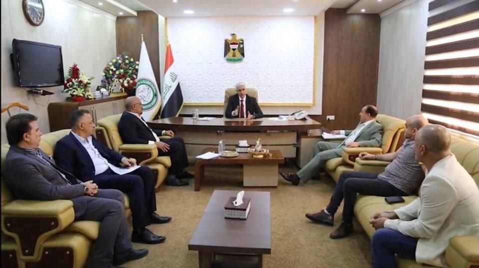 وزير الشباب والرياضة يؤكد دعمه لإقامة بطولة العرب بالمصارعة في بغداد