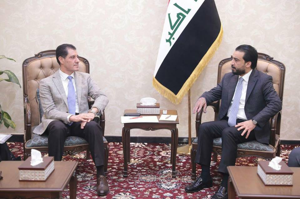 Halabousi is discussing with the Minister of Planning the reconstruction projects of liberated areas Image
