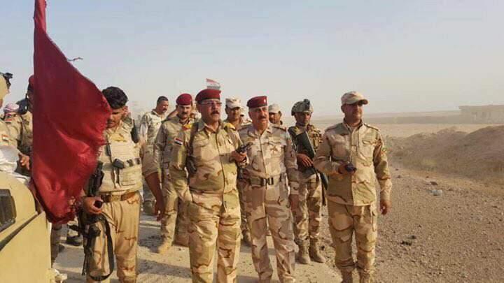 (بالصور) قطعات الجيش العراقي تتقدم باتجاه مدينة عنه غرب الانبار