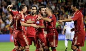 المنتخب الاسباني يتأهل الى نهائيات كأس اوروبا لكرة القدم