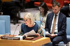 The UN Security Council holds a session on the situation in Iraq Image