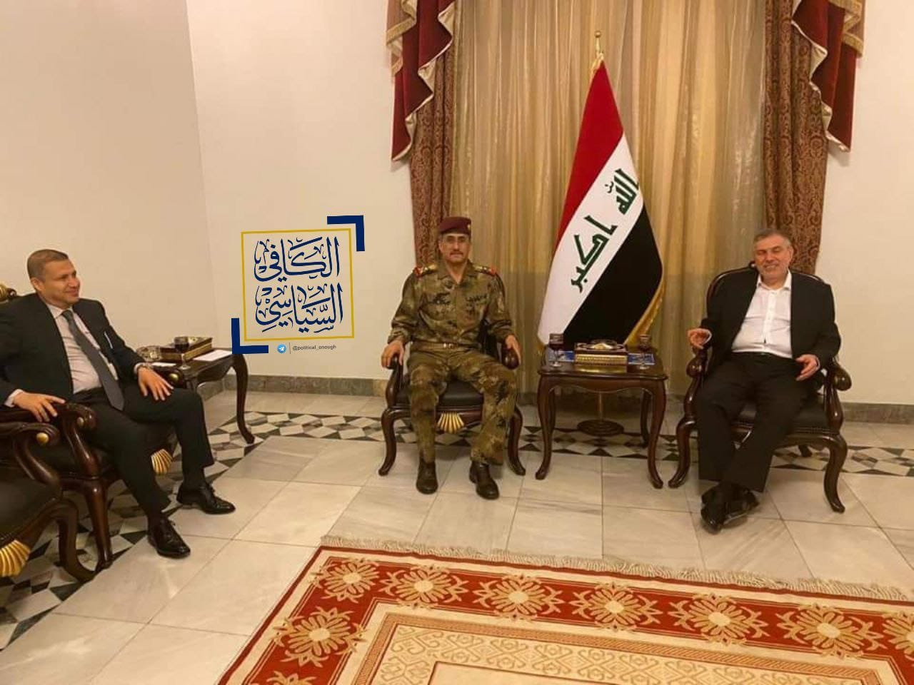 The Prime Minister-designate receives Lieutenant General Abdel-Wahab Al-Saadi in a surprise meeting Image