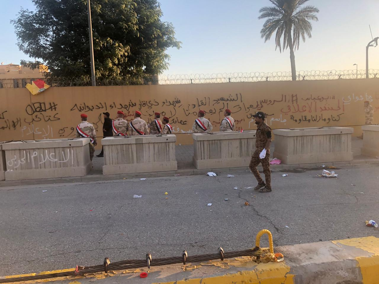 Reuters: The US Navy will send additional infantry to the embassy in Baghdad after the protests Image