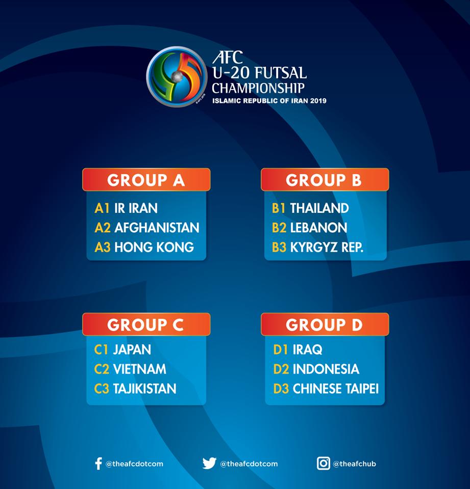 العراق يصطدم بإندونيسيا وصين تايبيه في كأس آسيا لشباب الصالات