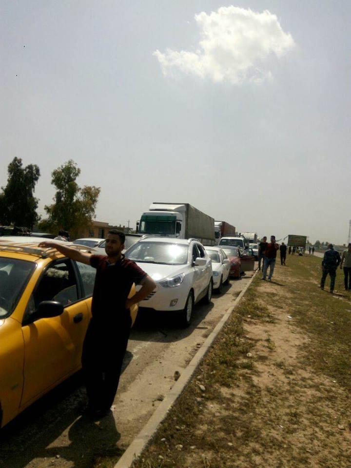 (بالفيديو) قوات الإتحادية تغلق سيطرة التون كبري في كركوك
