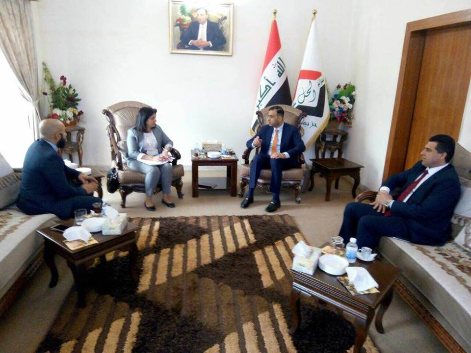 الكربولي يستقبل وفد السفارة الكندية في العراق