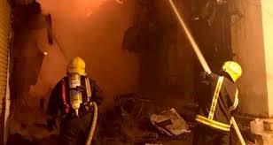 """""""بالفيديو"""" حريق هائل يلتهم 3 مبانٍ في المنطقة التاريخية بجدّة"""