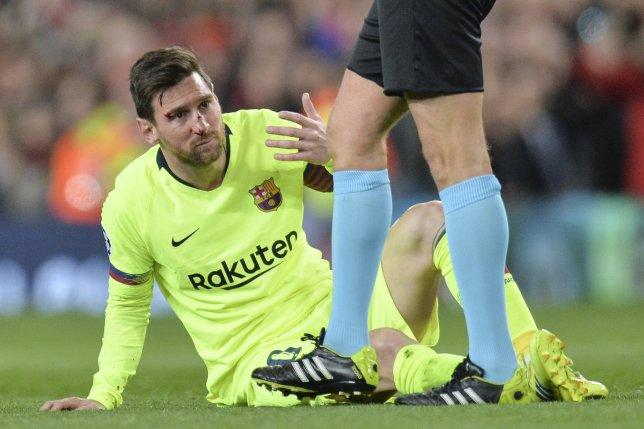 مدرب برشلونة يثير القلق حول اصابة ميسي