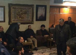 بالصور ..  الصدر يعزي عائلة سليماني في منزله بإيران