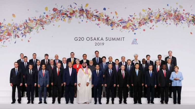 The G-20 stresses in its final statement the need for a free and fair global trade policy Image