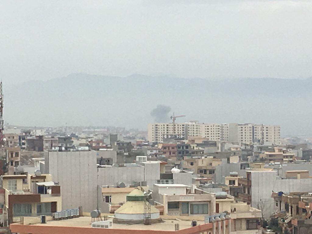 انفجار مجهول في السليمانية وانبعاث دخان اسود من الموقع