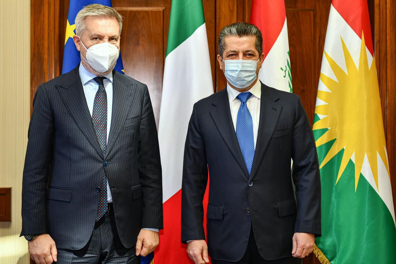 مسرور بارزاني: ندعم خطوات الكاظمي الرامية لتحقيق الأمن وحل المشاكل بين بغداد واربيل