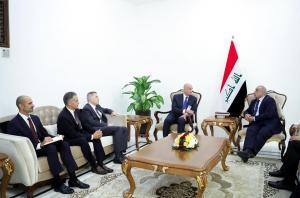 عبدالمهدي يبحث مع رؤساء شركات المانية وسعودية وامريكية الاستثمار في العراق