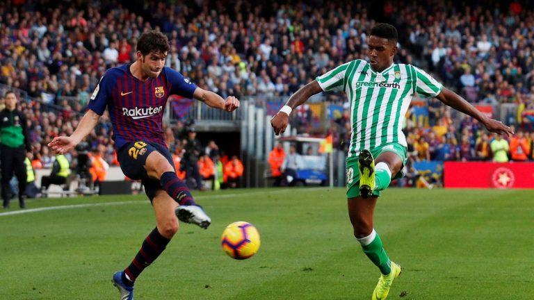 برشلونة وريال بيتيس يتفقان على صفقة جونيور فيربو