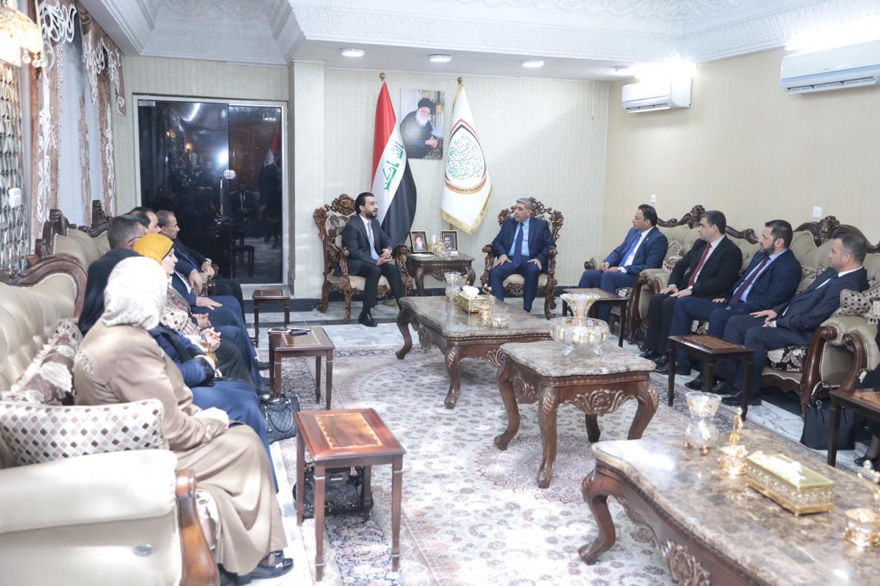 رئيس مجلس النواب يزور الهيئة السياسية للتيار الصدري