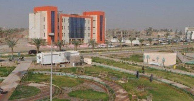 ازالة الالغام من موقع جامعة الانبار غرب الرمادي