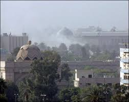 Two rockets land on the perimeter of the Green Zone in central Baghdad Image